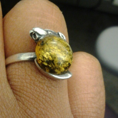 I bought this in the 10th grade. #AMBER attracts love and provokes happiness & pleasure. The #Rose is just beautiful irony LOL :P (Taken with Instagram)