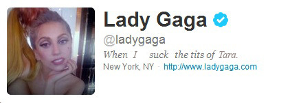 Lady Gaga just changed her twitter bio.