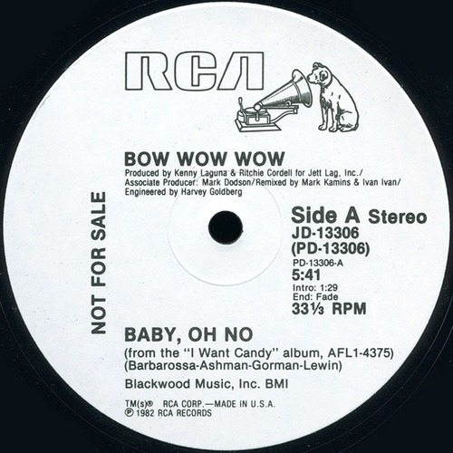 Baby, Oh No (extended mix) by Bow Wow Wow from Baby, Oh No (extended mix)