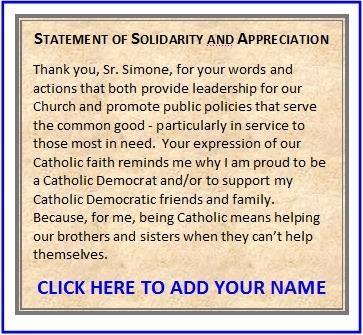 Sign the statement of solidarity & appreciation for proud Catholic Democrats. And share with your friends.