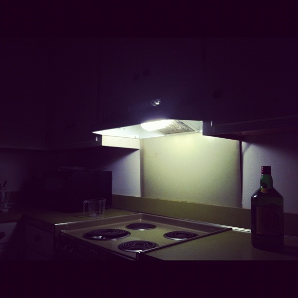 Roommate left the kitchen scary for me. (Taken with Instagram)
