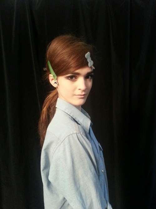 blackberryvision:  How incredible does Annabelle look!? Backstage at Marc Jacobs.