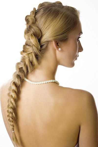 French Braid Wedding Hairstyles Braids have made their way from the runway to the aisle. These French braid wedding hairstyles are on trend and classic bridal looks.The weaving together of three strands is a metaphor for marriage to these bridal hairstyles combine style and meaning. Check out these bridal hairstyle pictures for three different ways to wear wedding braids.