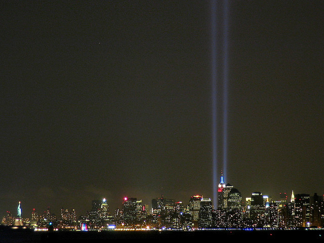 Tribute in Light, 9/11/03 by Brendan Loy on Flickr. R.I.P…