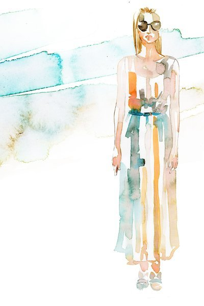 | incidental INSPIRATION | Backstage Illustrations from Carolina Herrera   Looking through fashion week photos I came across these illustrations by Samantha Hahn that she completed today backstage at Carolina Herrera. While fashion illustrations have become trendy I still love them and have tremendous respect for someone who can put these together in an afternoon! BEAUTIFUL!