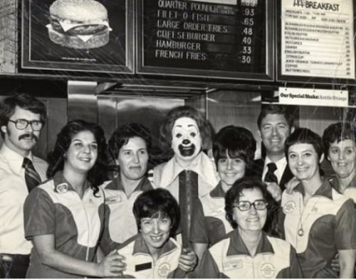 thefuuuucomics:  First McDonald's crew photo.
