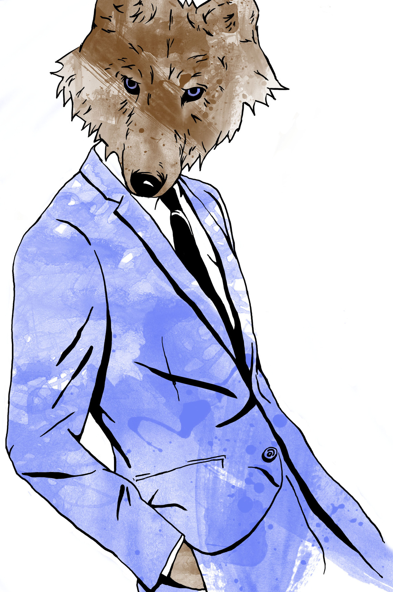 A wolf in Calvin Klein's clothing