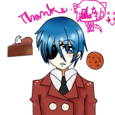 Forth try on Paint tool Sai. Ciel!>W< I love u! U cutie! :D
