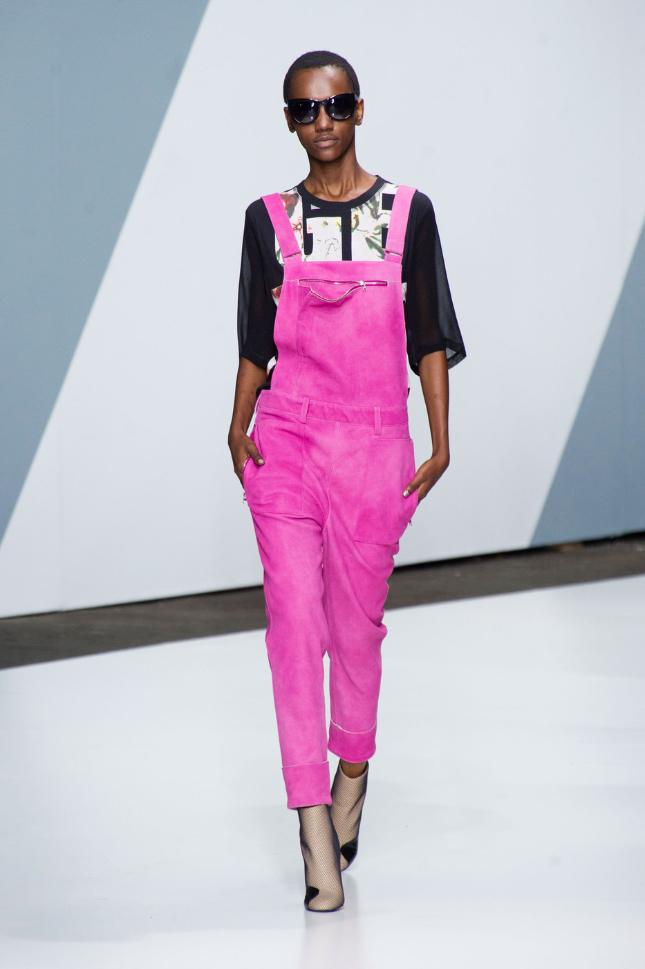 3.1 Phillip Lim Spring/Summer 2013 Hot pink overalls! Wonderful!
