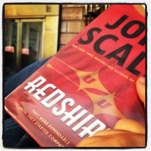 Getting ready for some quality time! #reading #redshirts #johnscalia  (Taken with Instagram)