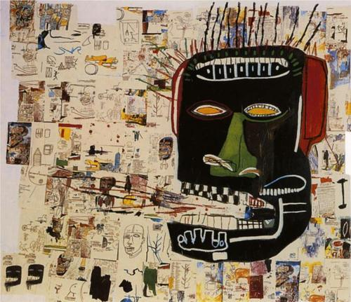 artist: Jean-Michel Basquaitwork: 'Glenn', 1984. Acrylic and crayon on wood, 254 x 289.6 cm.