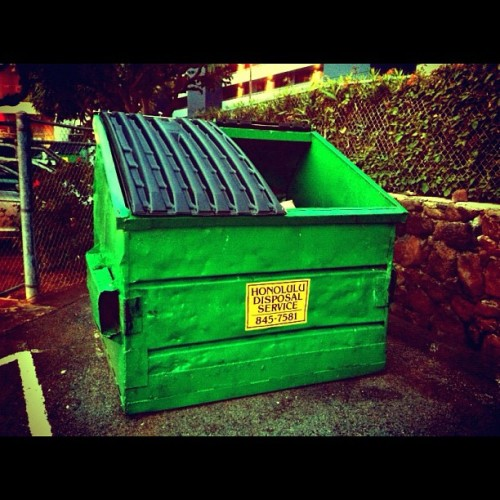 How many people do you know that keep a picture of a dumpster on their phone? #DumpsterMob (Taken with Instagram)