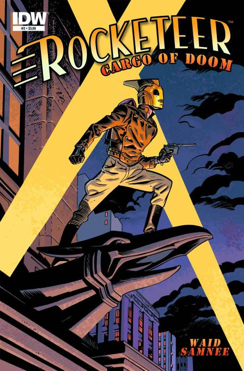 Market Monday The Rocketeer: Cargo Of Doom #2, colored by Jordie Bellaire  The 30th anniversary of the Rocketeer continues! Cliff finds himself the target of a scheme to 'liberate' the jetpack from him as a pair villains plot to stop him from interfering with their nefarious plans. Meanwhile, Cliff's secret identity, rather precarious at the best of times, is discovered by someone outside of his immediate circle.