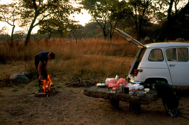 Vic Falls Car Camping by Scott Holcomb on Flickr. Great car camping photo!