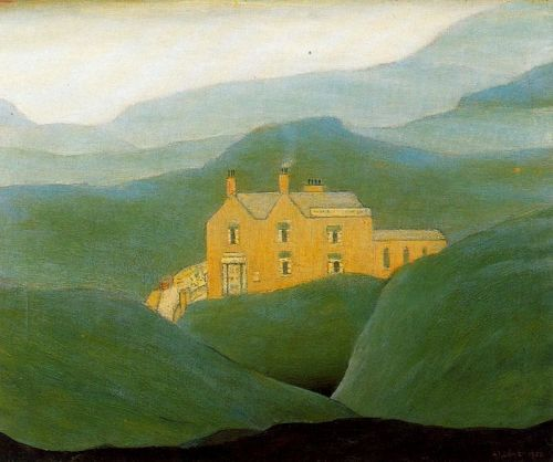 "windypoplarsroom:  Laurence Stephen Lowry ""House on the Moor"""