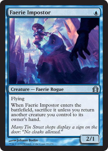 "mtgfan:  Return to Ravnica spoiler: Hey, it's Snapcaster's best friend.  I would like some bromance fan art for this ship, stat. ""Snapcaster + Imposter = BFFS <3"""