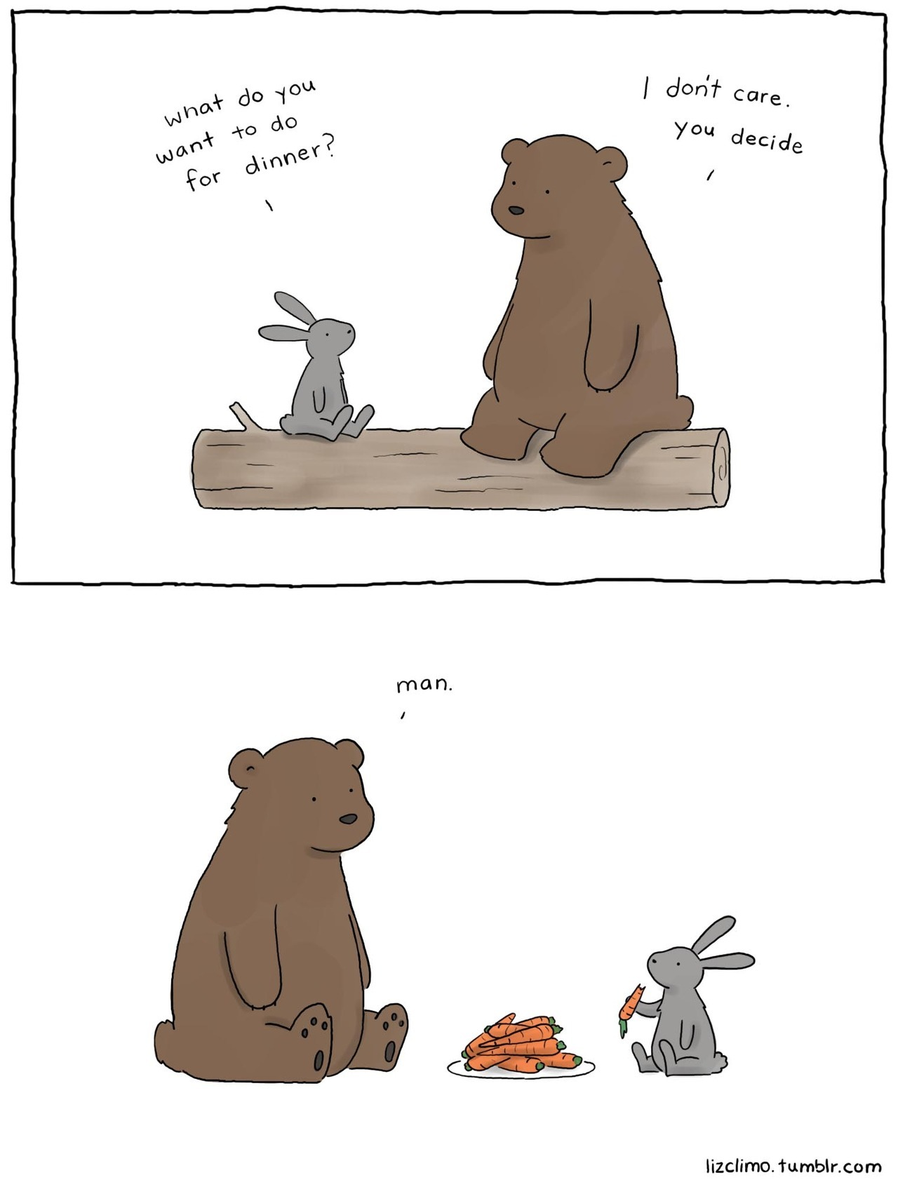 lulz-time:  lizclimo: shoulda said pizza.  Be sure to follow this blog, it'll look great on your dashboard