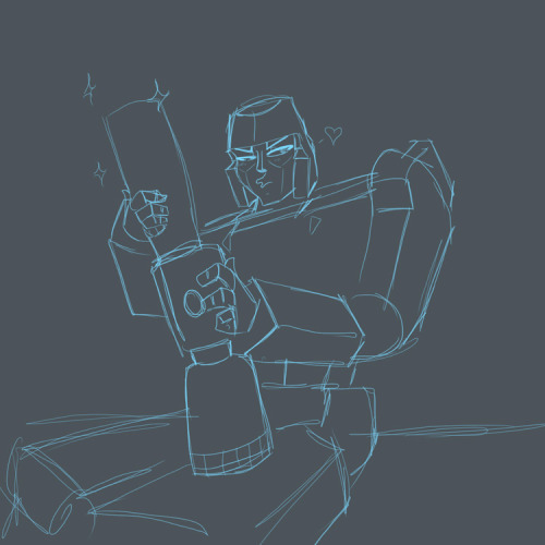 Megatron and his big cannon. I found this old sketch while going through my files and busted up laughing. It's a dumb picture I made for a friend who likes Megatron. I hope it gives you a good laugh, too.