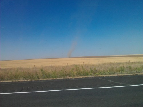 Huge dust devils on the flatlands East of the valley!