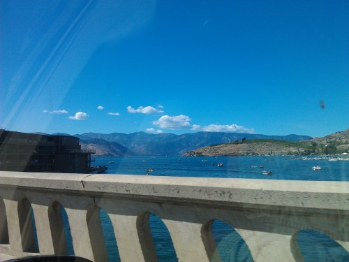 Lake Chelan. You can see how much the people love the water here, I don't know what to do with it all.