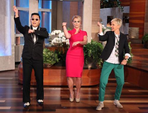 "ygfamilyy:  The Ellen DeGeneres Show: ""Wait 'til you see Britney doing Gangnam Style with Psy on my show tomorrow."""