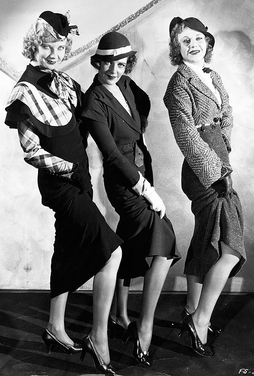 Una Merkel, Ruby Keeler & Ginger Rogers in 42nd Street, 1933.