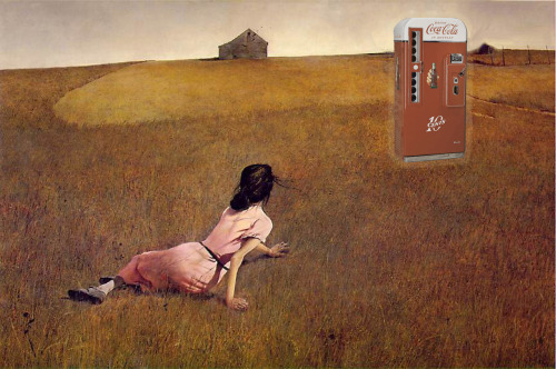 youcanhavesoda:  Christina's World by Andrew Wyeth circa 1948  We're liking this Brief History of Soda tumblr.