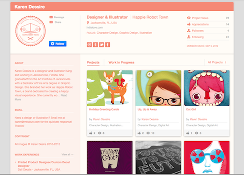 Hey guys! Finally got a Behance profile. This is where I'll be posting extended details about my projects. I have a few up right now from my portfolio but hopefully I'll be filling it up with new fun adventures soon! Keep an eye out! ;)