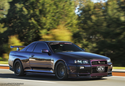 automotivated:  Nissan Skyline R34 GTR V Spec M.N.P II (by Coconut Photography)