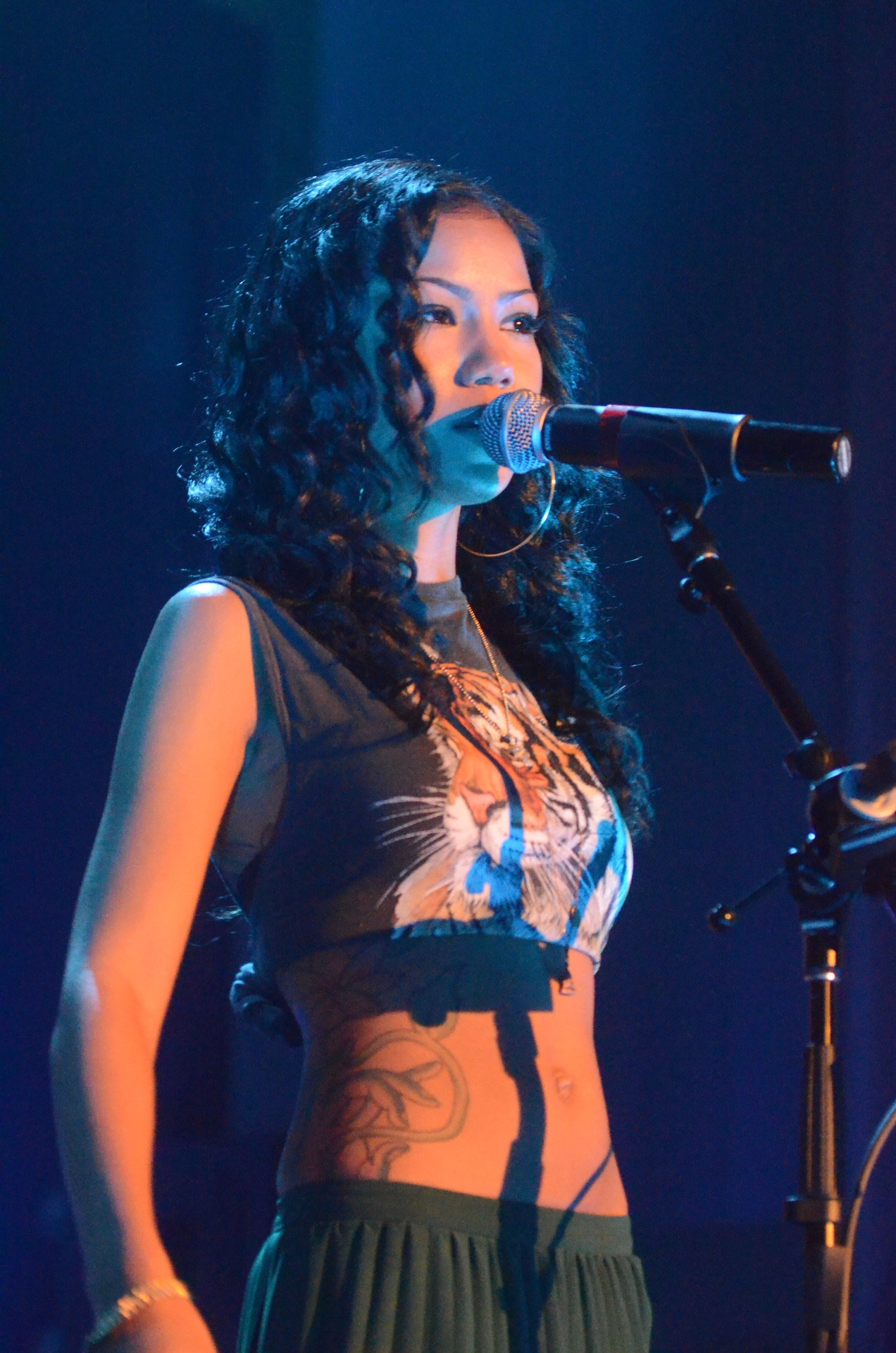 Jhene Aiko at my school, Grambling State University doing a free concert. She is my future wife…I took this picture by the way ;) #photographer