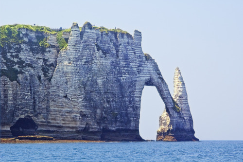 allthingseurope:  Western Cliff at Etretat, France (by philhaber)