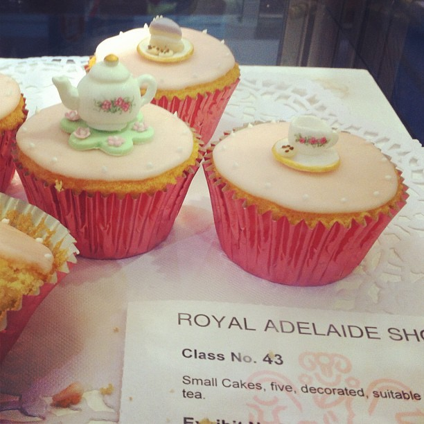 Tea & Cupcakes 🍰 #tea #cupcakes #hightea #cupcakegram #cupcake #cake #royaladelaideshow #adelaide #igdaily #instagram  (Taken with Instagram at Royal Adelaide Show)