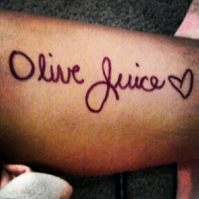 Olive juice. Ah live Jews. I'll love chew. I love you. #I #love #you #iloveyou (Taken with Instagram)