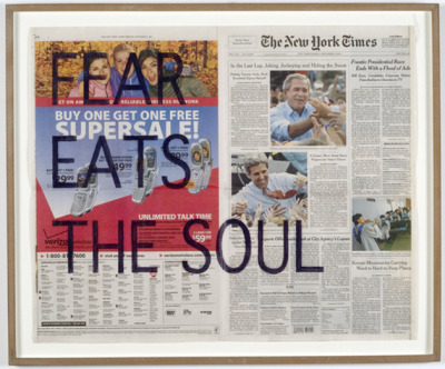 """untitled (fear eats the soul/ november 1-8, 2004)"" by rirkrit tiravanija"