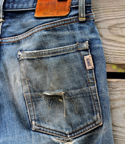 diagosdeadstock:  Edwin Destroyed back pocket