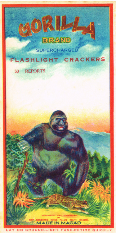 Gorilla 50's Firecracker Pack Label (by Mr Brick Label)