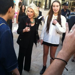 @joan_rivers #joan #joanrivers #nyc #newyork #nyfw #fashionweek  (Taken with Instagram)