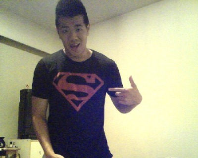 I is superboy hahaha. My favourite T shirt. :)