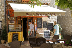 | ♕ |  Pizzéria in St-Paul-de-Vence  | by © Jules Holleboom | via ysvoice
