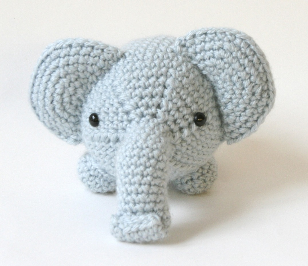 Crocheted Amigurumi Elephant Pattern from Lionbrand here.