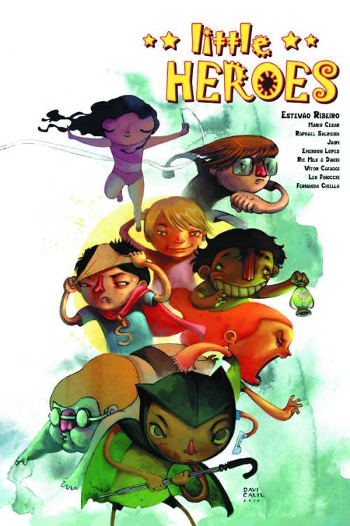 Market Monday Little Heroes GN, includes art by Fernanda Chielle  This award-winning Brazilian graphic novel is now being released internationally for the first time ever. Little Heroes is the story of the every day adventures we encounter and the moments when we discover the meaning of true courage. Because while everyone may dream of strapping on a cape and flying off to save the day, true heroism isn't something exclusive to superhumans and demigods.