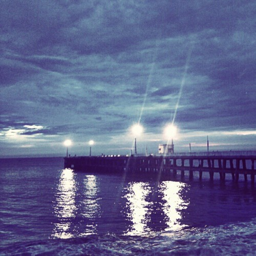 Dawn by the Seashore… #dawn #sea #dock # morning (Taken with Instagram)