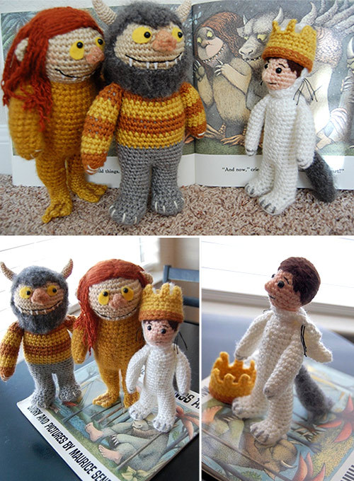 This is simply amazing!! 'Where The Wild Things Are' Amigurumi This is crochet at its most brilliant.  You can see more details on Alison Hoffman's CraftyisCool Ravelry page here.