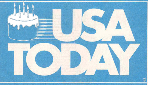 "Happy Birthday, USA Today. The newspaper critics once described as ""television you can wrap fish in"" is turning 30-years-old. Read ""A Newspaper That Influenced Us All"" in Garcia Media, a fascinating look back at what this project meant to the industry and its design community. * In with the new: Redesign unveiled"