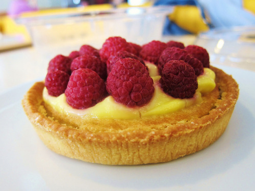 clottedcreamscone:  Brittany Ferries - Raspberry Tarte by Laissez Fare on Flickr.