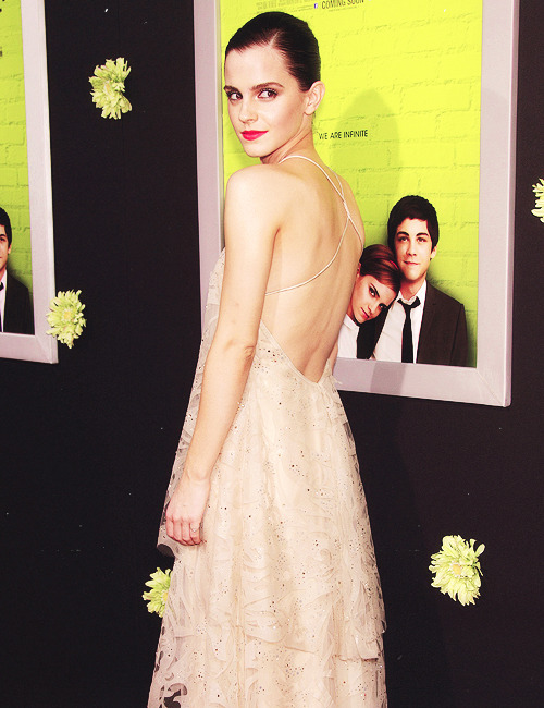 Emma Watson at the LA premiere of The Perks of Being a Wallflower.