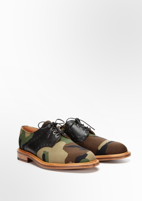 Yes or no?  Mark McNairy woodland camouflage and Derby lacings for Park and Bond.
