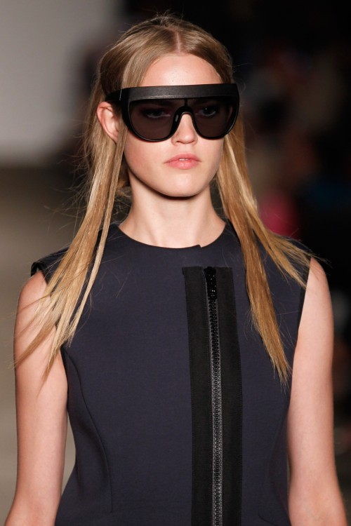 Killer visors at Zero + Maria Cornejo for SS13! #nyfw