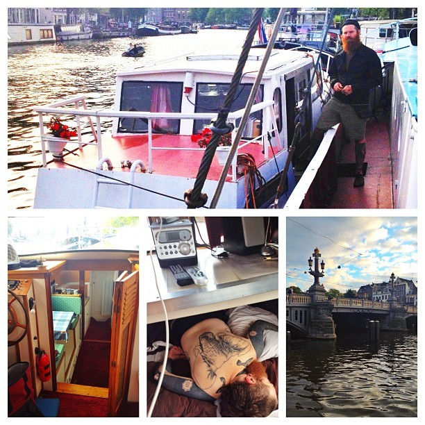 Boat living in Amsterdam! (Taken with Instagram)