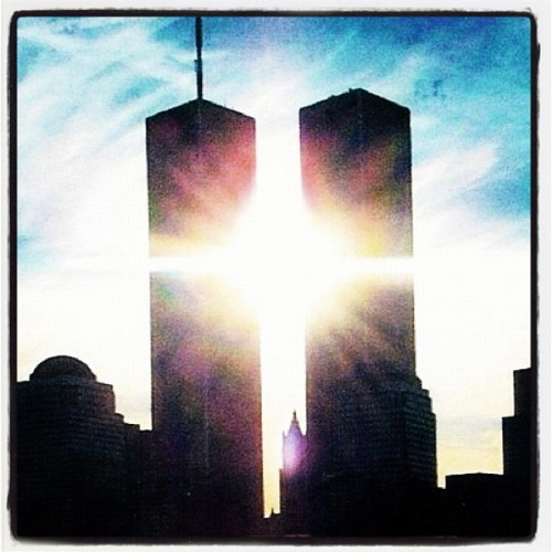 9/11 I can't believe its been 11 years now. Give urself @ least 1 min of ur time today to commemorate and remember those who lost their life and for those who lost a loved one.  (Taken with Instagram)